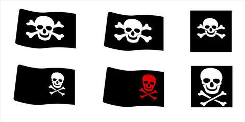 Pirate Flags set. Illustrations size allows  to use each image s