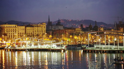 Port Vell in morning. Barcelona, Spain