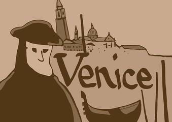 Vintage Venice symbols