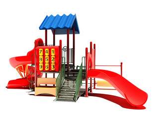 Playground on a white background.