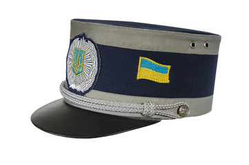 police hat, against a white background