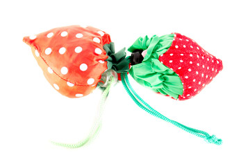 Colorful textile strawberry