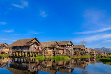 Floating Village ,  inle lake in Myanmar (Burmar)