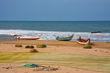 Mahabalipuram Beach Scene in India