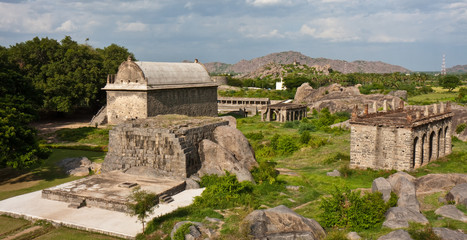 Buildings at Gingee Fort in India