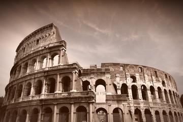Colosseum. Sepia tone image.