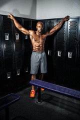 Muscle Fitness Locker Room Pose