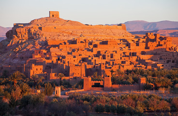 Ksar of Ait-Ben-Haddou at sunrise, Morocco.