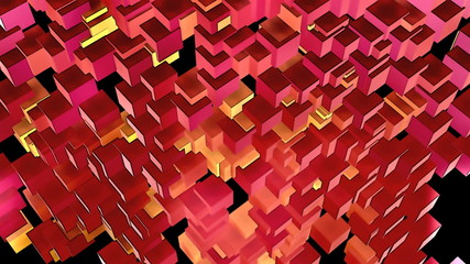 Stylistic Looping Cubes Background