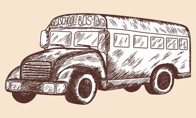 School bus sketch