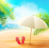 Tropical Paradise - vector background