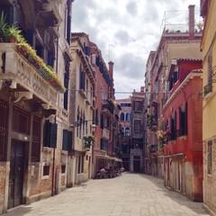 Alte Häuser in Venedig