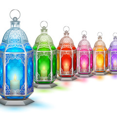Illuminated lamp on Ramadan Kareem (Generous Ramadan) background