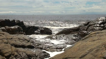 Rocks and Waves on CAmeroonian Coastt