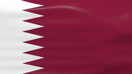 Waving Qatar Flag, ready for seamless loop.