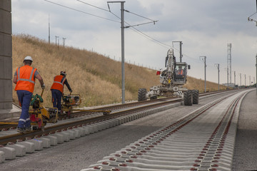 travaux de pose de rails