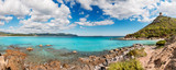Fototapety Panoramic desert seascape with crystal clear sea - very high res