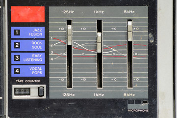 Analog stereo equalizer control.
