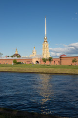 St. Petersburg. Peter and Paul Fortress on the Neva River.