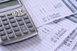 Leinwandbild Motiv Salary payroll detail