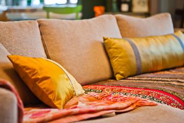 Подушки на диване / Pillows on the couch