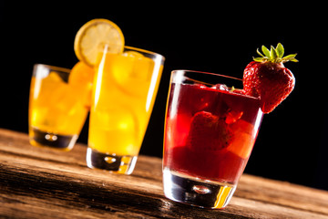 Fresh tasty drinks