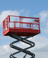 The Platform of a Hydraulic Lift Equipment.