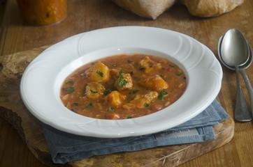 Pork goulash soup