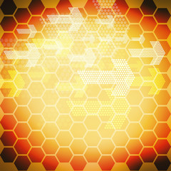 honeycomb abstract