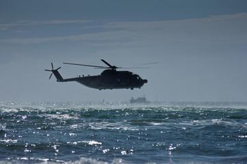 esercitazione salvataggio con elicottero