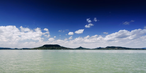 Panorama landscape at Lake Balaton,Hungary