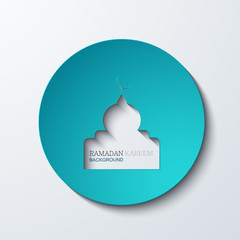 Vector ramadan kareem background.