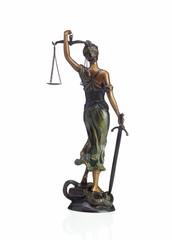 Justitia Rückansicht