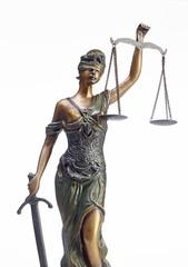 Justitia Statue aus Bronze