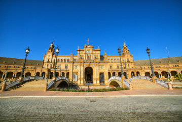 Plaza de Espana (square of Spain), in Seville, Spain