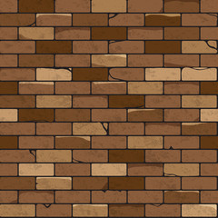 Brick wall seamless patterns, vector illustration