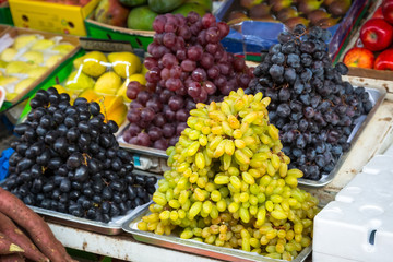 Grapes on the local market in Dubai