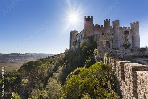 Staande foto Vestingwerk Village de Obidos Portugal