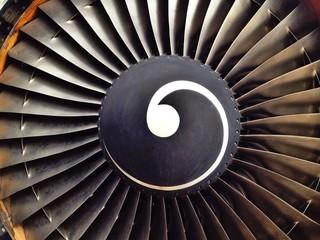 Triebwerk von Flugzeug