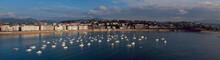 Aguas del mar Cantábrico en la ciudad de Donostia
