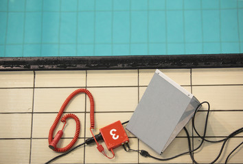 Equipment for swimming competitions