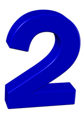 mavi renkli 2 sayısı
