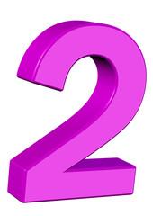 pembe renkli 2 sayısı