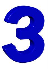 mavi renkli 3 sayısı