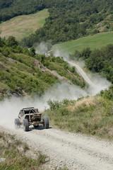 offroad run on terrain track