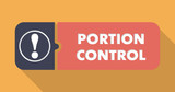 Portion Control Concept in Flat Design. poster
