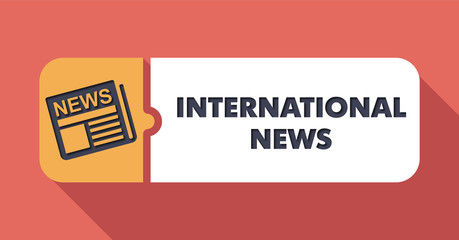 International News Concept in Flat Design.