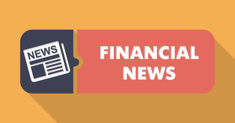 Financial News Concept in Flat Design.