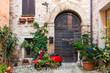 Leinwanddruck Bild - Elegante porta di legno