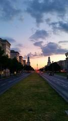Berlin - Frankfurter Tor am Abend